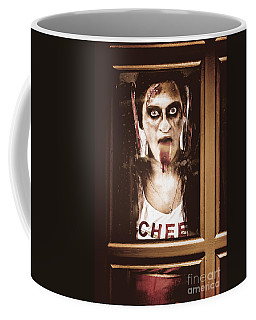 Zombie School Girl Pulling A Funny Face On Glass Coffee Mug