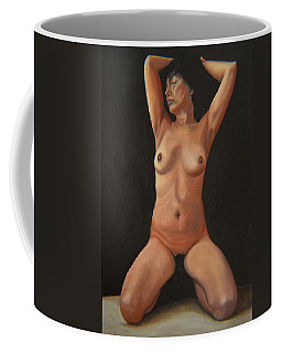 Coffee Mug featuring the painting 10 Am by Thu Nguyen