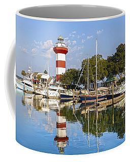 Lighthouse On Hilton Head Island Coffee Mug by Peter Lakomy