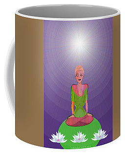 1026 - Lotus Coffee Mug by Irmgard Schoendorf Welch