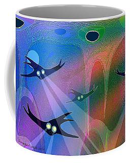 1044 - Inside A Tropical Ocean   Coffee Mug by Irmgard Schoendorf Welch