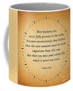 116- Eckhart Tolle Coffee Mug by Joseph Keane