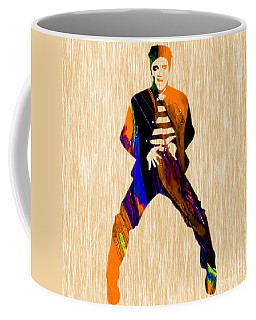 Coffee Mug featuring the mixed media Elvis Presley by Marvin Blaine