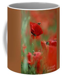 Red Poppy Flowers Coffee Mug