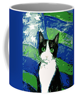 Cat With Stars And Stripes Coffee Mug