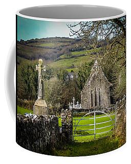 12th Century Cross And Church In Ireland Coffee Mug