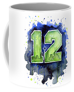 12th Man Seahawks Art Seattle Go Hawks Coffee Mug