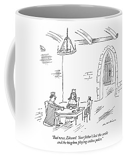 Bad News, Edward.  Your Father's Lost The Castle Coffee Mug