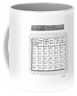 Insomnia Jeopardy Coffee Mug by Roz Chast