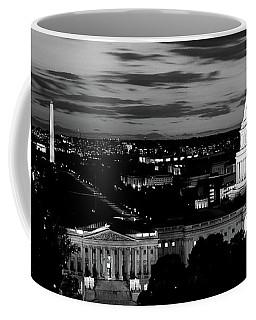 High Angle View Of A City Lit Coffee Mug