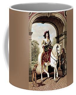 1600s Woman Riding Sidesaddle Painting Coffee Mug