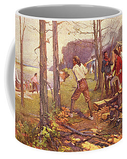 1700s 1764 Pierre Laclede Clearing Land Coffee Mug