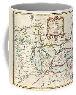 1755 Bellin Map Of The Great Lakes Coffee Mug