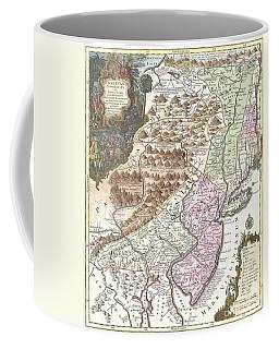 1756 Lotter Map Of Pennsylvania New Jersey And New York Coffee Mug