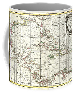 1762 Zannoni Map Of Central America And The West Indies Coffee Mug by Paul Fearn