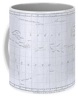 1780 Cook  Hogg Map Of Tahiti  Coffee Mug