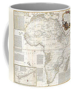 1787 Boulton  Sayer Wall Map Of Africa Coffee Mug by Paul Fearn