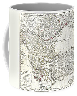 1794 Laurie And Whittle Map Of Greece Turkey And The Balkans Coffee Mug