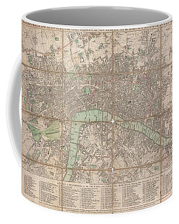 1795 Bowles Pocket Map Of London Coffee Mug by Paul Fearn