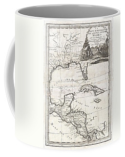 1798 Cassini Map Of Florida Louisiana Cuba And Central America Coffee Mug