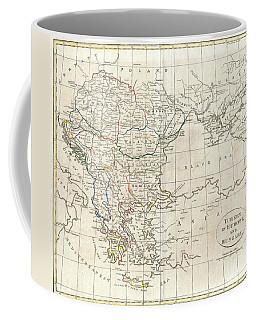 1799 Clement Cruttwell Map Of Turkey In Europe  Coffee Mug