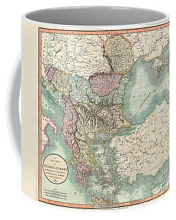 1801 Cary Map Of Turkey In Europe Greece And The Balkan Coffee Mug
