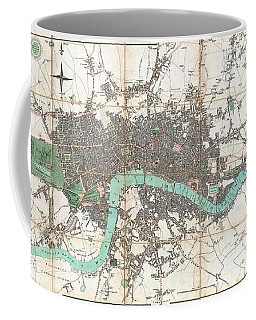 1806 Mogg Pocket Or Case Map Of London Coffee Mug by Paul Fearn
