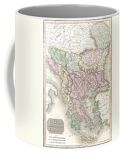 1814 Thomson Map Of Greece Turkey  And The Balkans  Coffee Mug