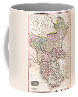 1818 Pinkerton Map Of Turkey In Europe Greece And The Balkans Coffee Mug