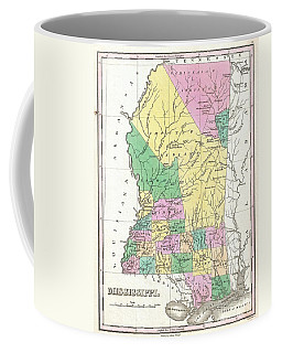 1827 Finley Map Of Mississippi Coffee Mug by Paul Fearn
