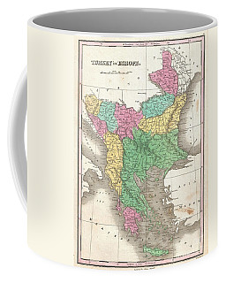 1827 Finley Map Of Turkey In Europe Greece And The Balkans Coffee Mug