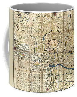 1849 Japanese Map Of Edo Or Tokyo Coffee Mug by Paul Fearn