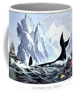 1850s Capturing The Whale - Currier & Coffee Mug