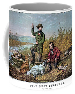 1850s Wild Duck Shooting - Two Hunters Coffee Mug