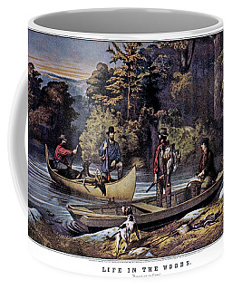 1860s Life In The Woods - Hunters Coffee Mug