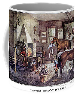 1860s Trotting Cracks At The Forge - Coffee Mug
