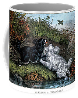 1860s Two Spaniel Dogs Flushing Coffee Mug
