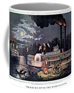 1860s Wooding Up On The Mississippi - Coffee Mug