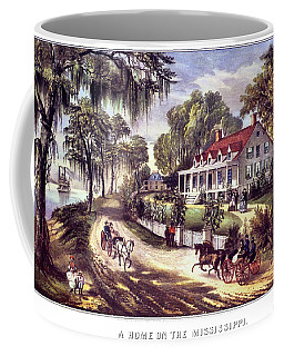 1870s 1800s A Home On The Mississippi - Coffee Mug