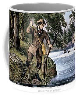 1870s Brook Trout Fishing - Currier & Coffee Mug