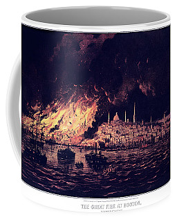 1870s The Great Fire At Boston - Coffee Mug