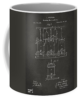 1873 Brewing Beer And Ale Patent Artwork - Gray Coffee Mug