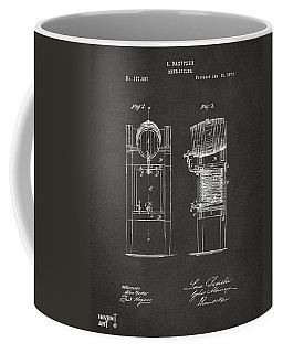 1876 Beer Keg Cooler Patent Artwork - Gray Coffee Mug