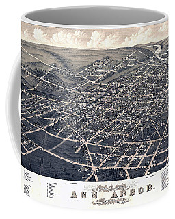 1880 Birds Eye Map Of Ann Arbor Coffee Mug