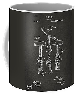 1883 Wine Corckscrew Patent Artwork - Gray Coffee Mug