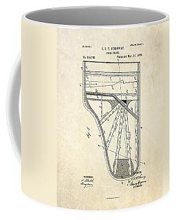1885 Steinway Piano Frame Patent Art Coffee Mug
