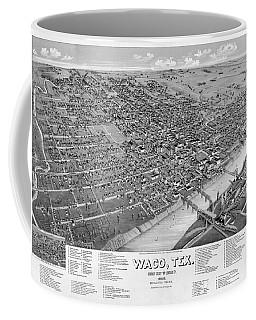 1886 Vintage Map Of Waco Texas Coffee Mug
