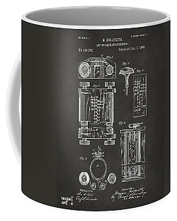 1889 First Computer Patent Gray Coffee Mug by Nikki Marie Smith