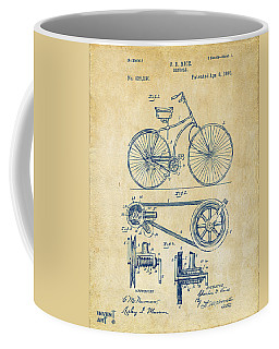 1890 Bicycle Patent Artwork - Vintage Coffee Mug