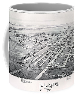 1890 Vintage Map Of Plano Texas Coffee Mug